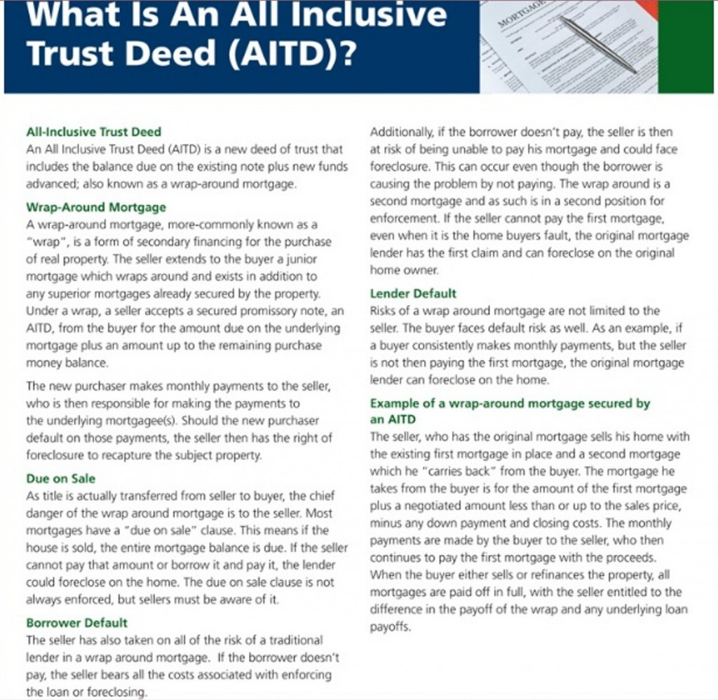 All Inclusive Trust Deed (AITD)